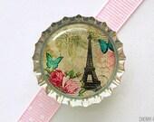 Eiffel Tower Bottle Cap Magnet, paris theme party favors, paris magnets, paris decor, eiffel tower decor, french decor, paris gift, parisian
