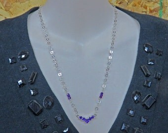 Amethyst Necklace & Earring Set - Amethyst Necklace and Amethyst Post Earring Set