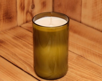 Upcycled Wine Bottle Scented Candle