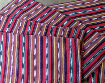 Guatemalan Fabric in Red and Brown Ikat