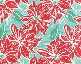 Jingle - Poinsettia in Ice by Kate Spain for Moda Fabrics