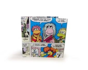Fraggle Rock Wallet - Upcycled vintage comic in vinyl