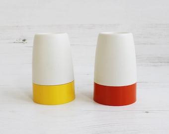Vintage Egg Cup Holder - Tupperware Orange Yellow Kitchenware Retro Breakfast