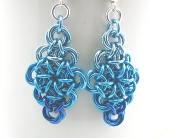 Chainmaille Ombre Earrings - Elizabeth Colorfalls Collection