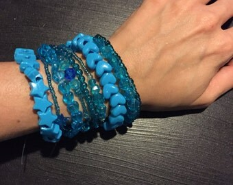 9 Bracelet LIGHT BLUE Color Bundle