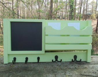 READY TO SHIP-----Chalkboard Message Center--Letter Holder--Mail Organizer--Letter Holder--Message Board