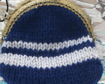 Ravenclaw Inspired Hand Knitted Coin Purse