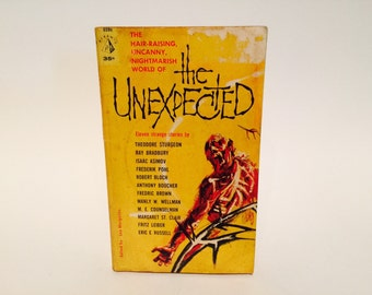 Vintage Sci Fi Book The Unexpected - Leo Margulies 1961 Paperback Anthology