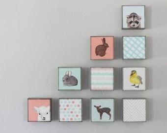woodland nursery decor, choose 10 designs, forest nursery decor, animal prints, geometric prints, rabbit, deer, redtilestudio, woodland