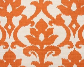 Fabric Remnant - Richloom Basalto in Tangerine Indoor Outdoor Fabric   - 30 inch piece