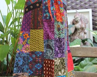 PATCHWORK Boho Gypsy A Shape Long Skirt - PKW1504-03