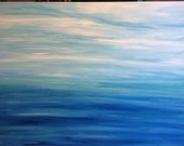 Huge 36x48 Seascape Original Abstract Painting Art