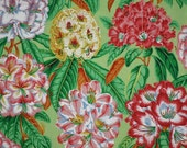 SPECIAL--Colorful Rhododendron Print Pure Cotton Fabric--One Yard