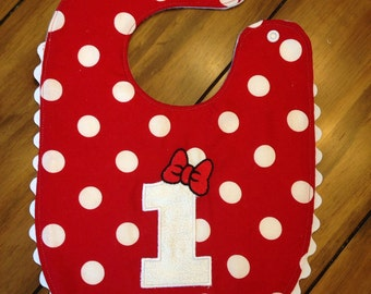 Minnie Birthday Bib