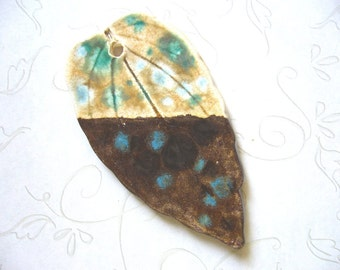 The Unusual - Most Ardently Ceramic Leaf Pendant