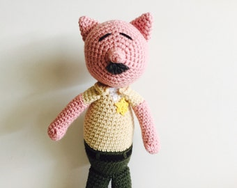 Crochet Police Deputy Sheriff Pig Doll Amigurumi Law Enforcement