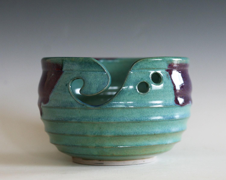 Knitting Bowl Yarn Bowl pottery yarn bowl crochet bowl