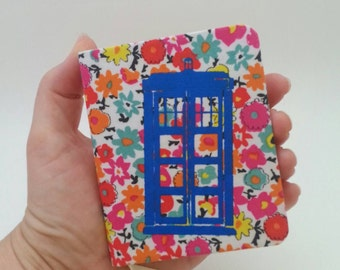 Mini Tardis Flower Notebook