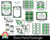 Soccer Party Package / Soccer Party Invitation / Soccer Party / Soccer Invitation / Soccer Birthday / Sports Invitation