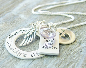 always daddy's little girl memory necklace