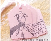 Pink Dress Tags ... Blush,  Shabby, Wedding, Party Favor Gift Tag, Packaging, Clothing, Princess, Labels