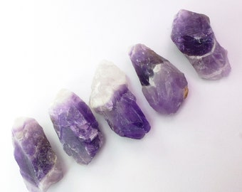 AMETHYST Rough. Natural Chevron Amethyst. Polished / Rough Mixed. 5 pc. 170 cts. 14x28x10 mm (AM1320)