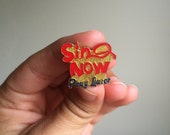 Vintage Sin Now Pray Later hard enamel pin