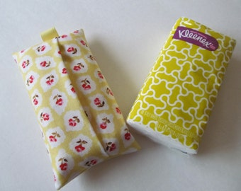 Tissue Case/Rose On Yellow