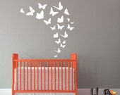 ON SALE butterfly decals, confetti butterflies, wall pattern decals, wall decals