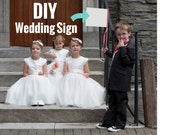 DIY Wedding Sign | Blank Paper Banner | Small Rectangular Sign | Write, Draw, Color, Paint It Yourself | Kids Decorate Here Comes The Bride