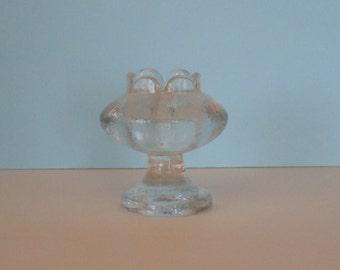 Vintage Mid-Century Pukeberg Sweden Glass Candle Holder