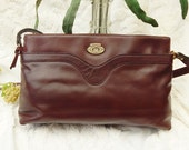 Reserved ---Vintage 70s ETIENNE AIGNER - Ox Blood Leather Purse