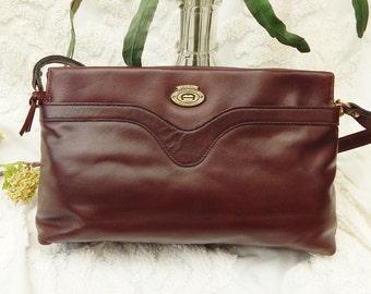 Vintage 70s ETIENNE AIGNER - Ox Blood Leather Purse