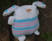 Plush Puppy Made From Baby's Flannel Receiving Blanket -