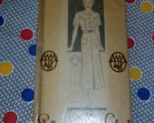 """1940s Mail Order Marian Martin Pattern 9199 Misses Dress Size 16, Bust 34"""""""