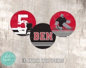 Hockey Party Age Specific Customized 3 inch Party Toppers by Beth Kruse Custom Creations