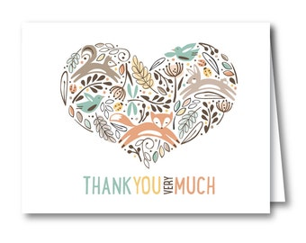 Thank You Card, Baby Shower // WOODLAND WONDER