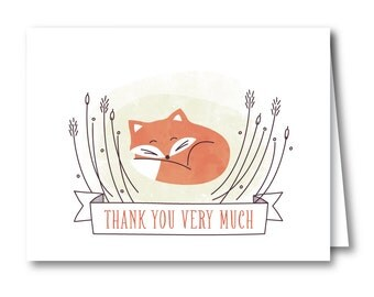 Thank You Card, Baby Shower // BABY FOX