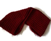 Knit Infinity Scarf, Dark Red Scarf, Womens Accessory, Winter Scarf, Knit Cowl Scarf in Red