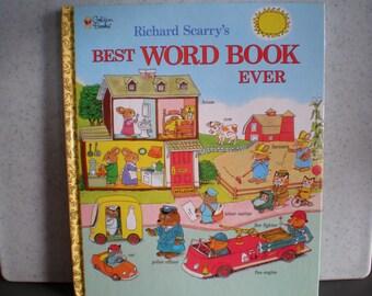 Vintage 1990's Children's Book -  Richard Scarry's Best Word Book Ever