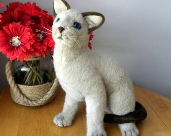 Vintage Cat - Siamese Cat - Plush Toy - RSPCA Cat - Old Toy Cat