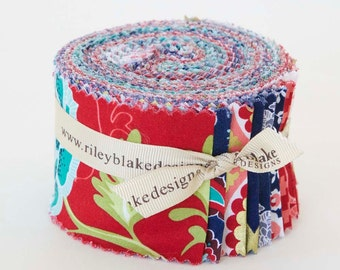 La Vie Boheme - rollie pollies or jelly rolls by the Quilted Fish