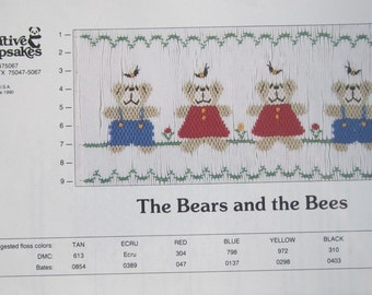Smocking Plate - The Bears and the Bees by Creative Keepsakes (book 3)