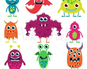 Cute Monster SVGs, Monster or Halloween Cutting Templates - Commercial and Personal Use