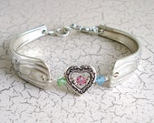 Bridal Birthstones Silver Spoon Bracelet Free US Shipping