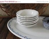 SHOP SALE Vintage Set of Six Carbibe Restaurant Ware Berry Bowls