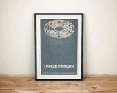 The Inside Man // Inception Alternate Movie Poster // , Vintage Science Fiction Dream Maze with Multiple Levels Illustration