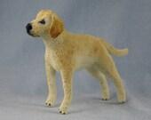 Labrador Retriever Miniature Soft Sculpture Dog by Marie W. Evans