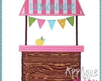 Lemonade Stand Applique Design