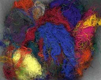 Recycled Silk Fibers